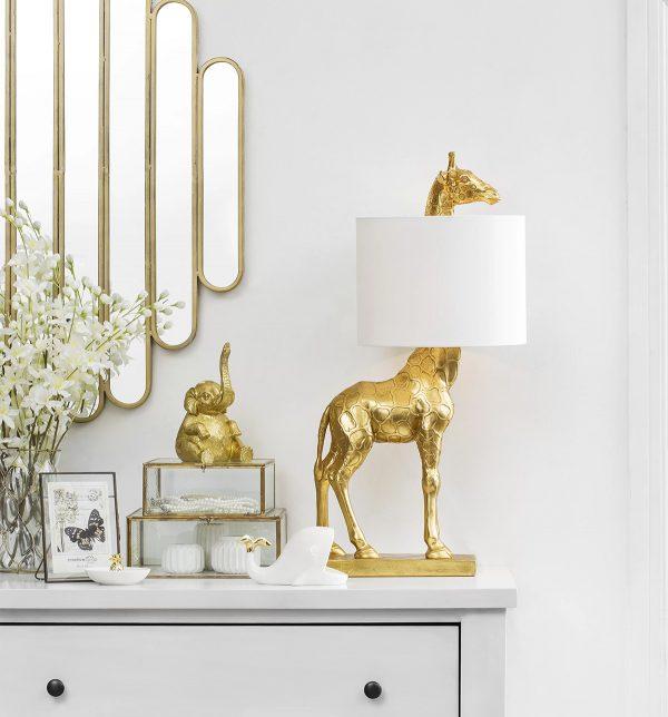 Product Of The Week: A Cute Golden Giraffe Lamp