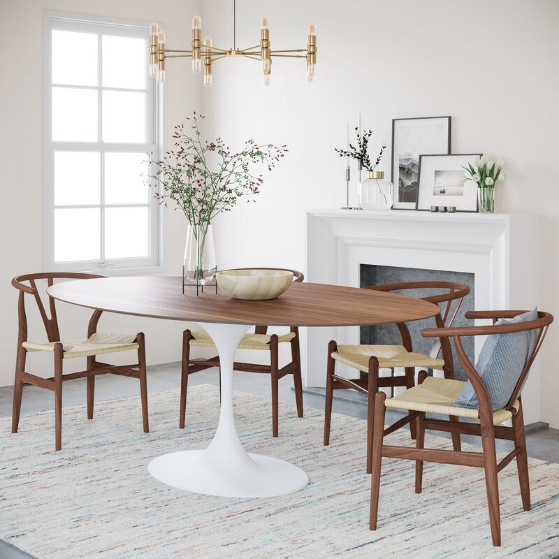 51 Oval And Racetrack Shaped Dining Tables To Elevate Your Dining Space