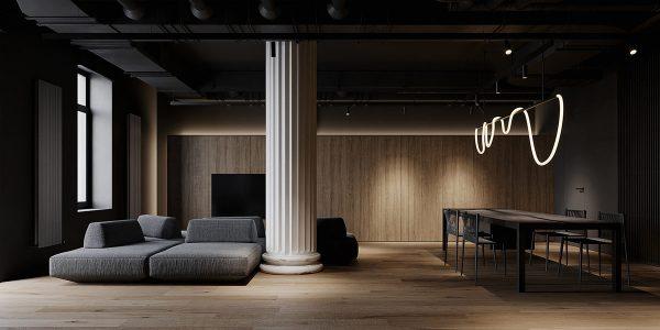 Shaping Slick Dark Interiors With Black & Grey Decor