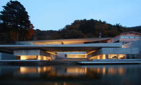 Brutalist Japanese Lake House