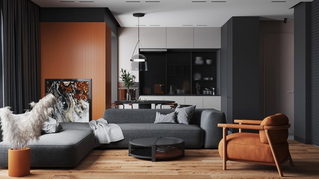 Creating Well Rounded Interiors With Circle Themes & Orange Accents