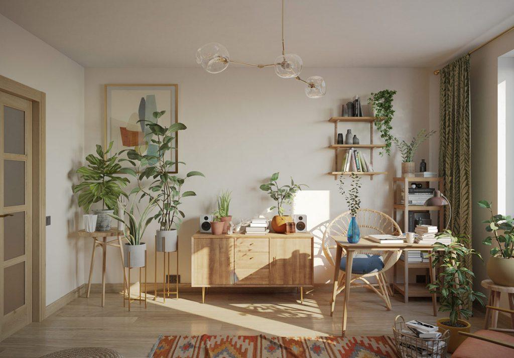 Cozy Boho Interiors With Botanical Boosts