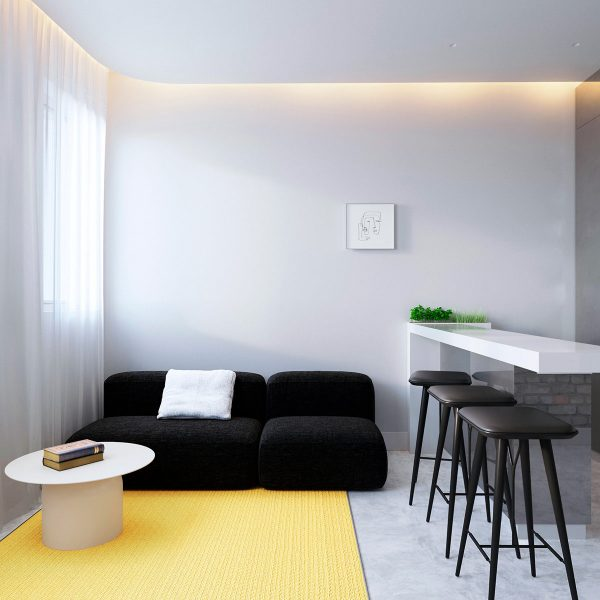 Interiors Under 60 Sqm With Simple Colour Infusions