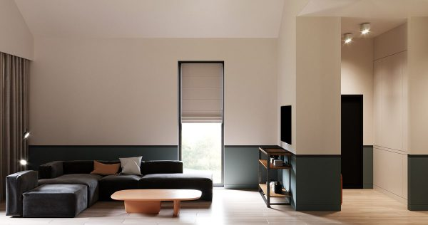 Unifying Home Interiors With Horizontal Colour Blocking