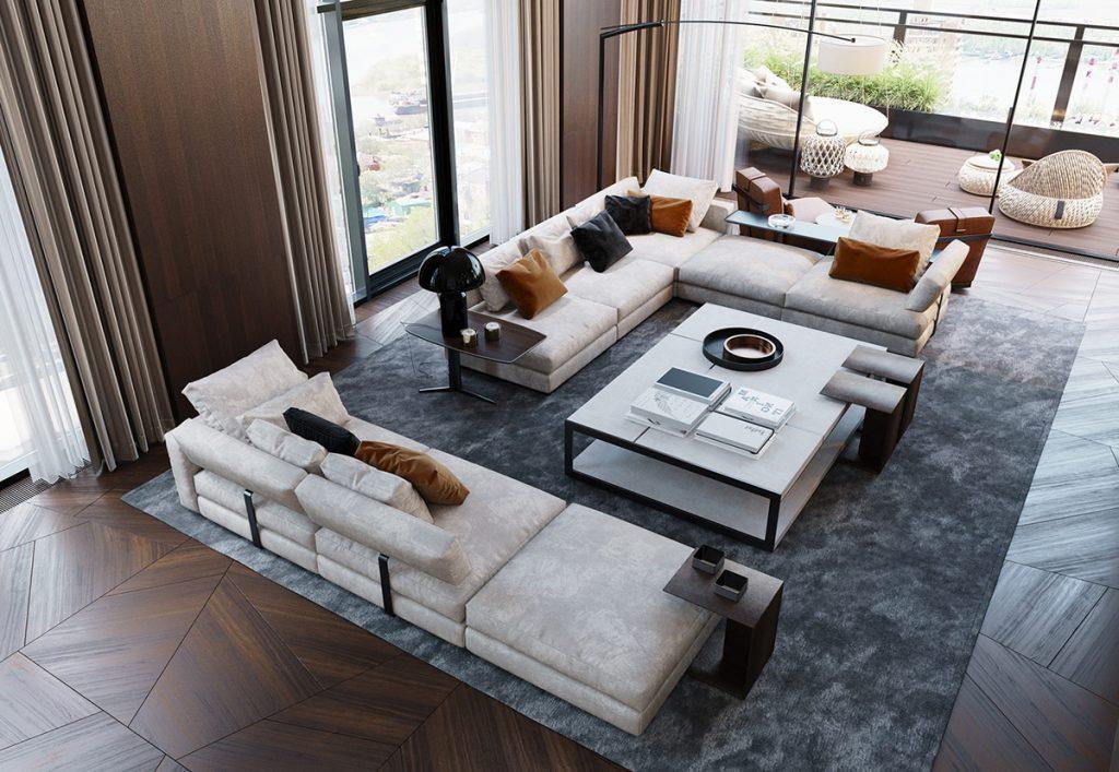 Impressive Private Penthouse Interior In Russia