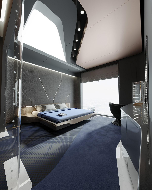 Futuristic Bedroom Interior Design Ideas
