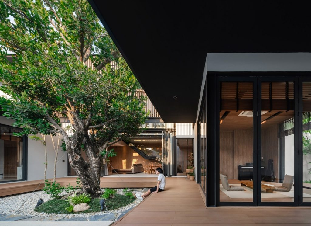 Peacefully Zen Modern Home In Thailand With Courtyards & Pool