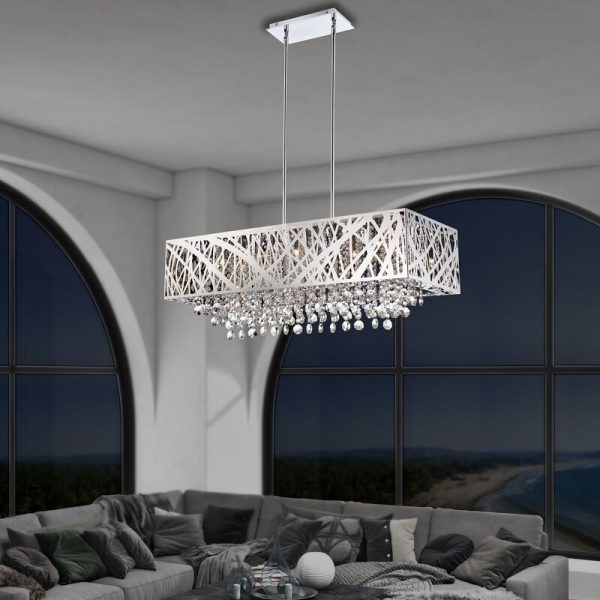 51 Crystal Chandeliers To Hypnotize, Rectangular Shaped Chandeliers