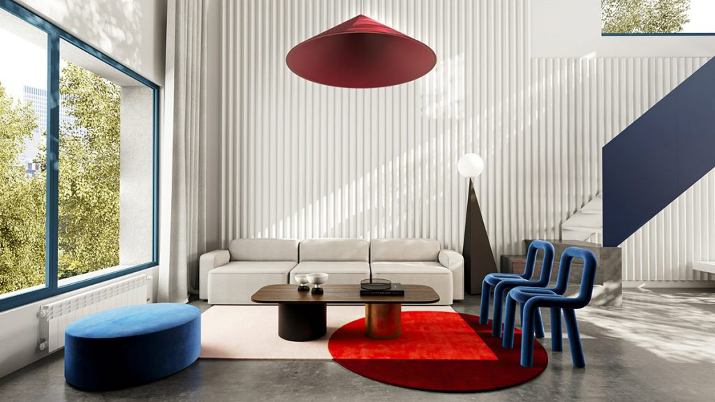 How To Pull Off A Cheerful Colour Clash With Red And Blue Decor