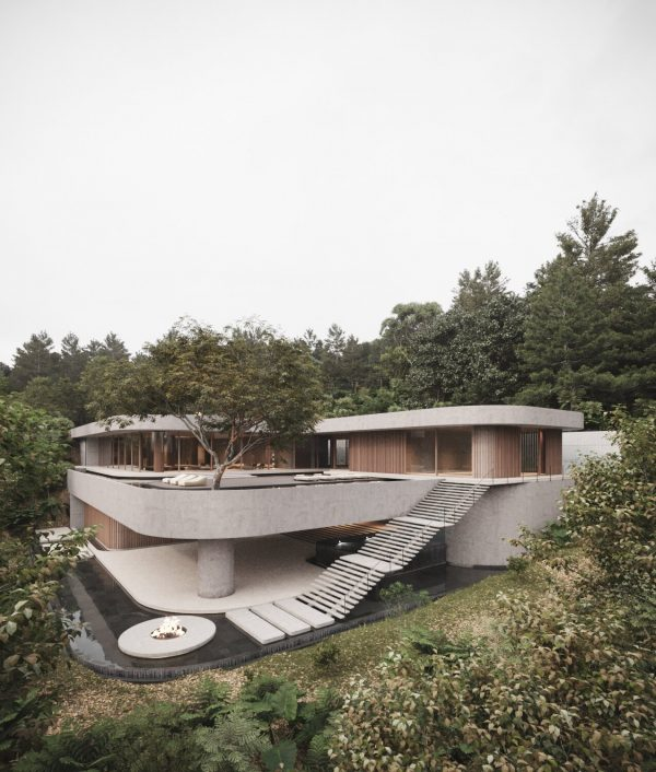 A Tranquil Jungle House That Incorporates Japanese Ethos [Video]