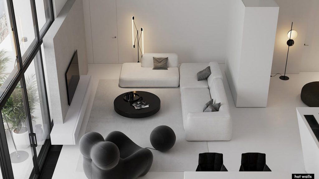 Confident Monochrome Interiors With Slick Form & Functionality