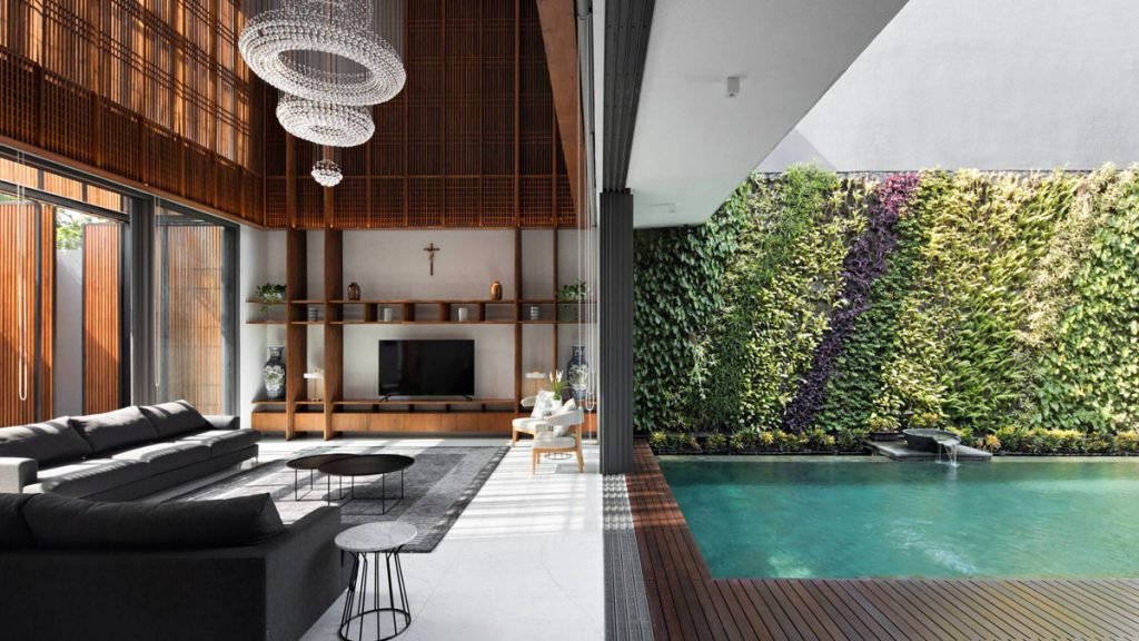Serene Timber Screen House in Jakarta