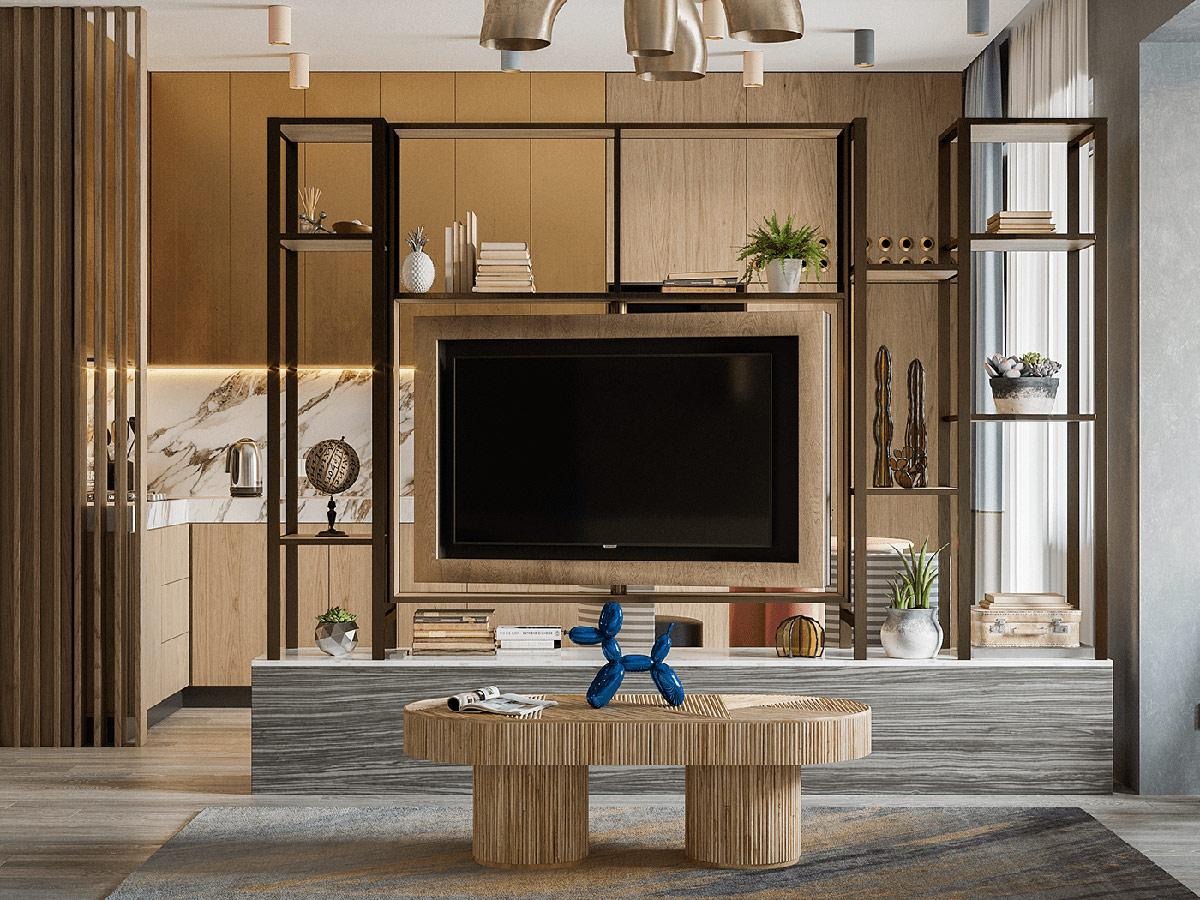 Tv Stand Room Divider Interior Design Ideas