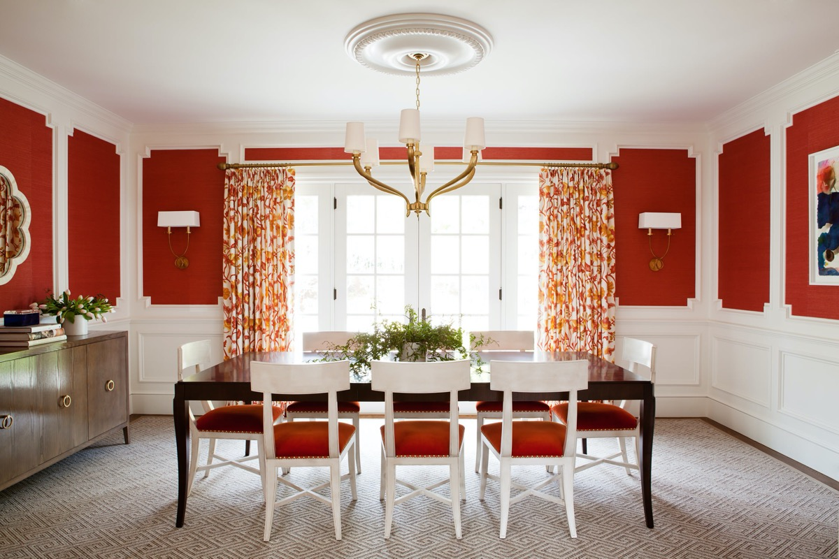 51 Red Dining Rooms With Tips And, Red Dining Room