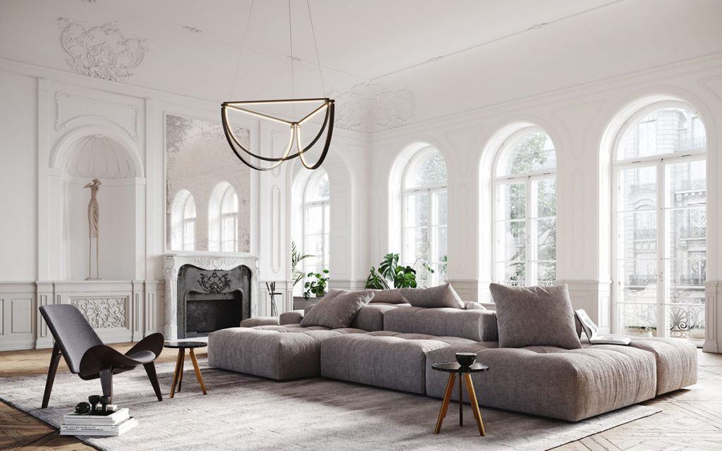 Light & Luxury Interiors With Elegant Neoclassical Style