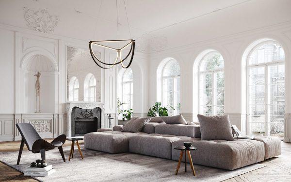 Light & Luxury Interiors With Elegant Neoclassical Style