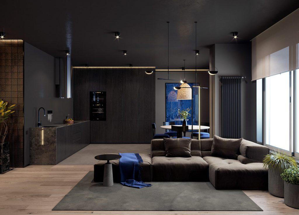3 Dark Interiors With Inspirational Home Lighting