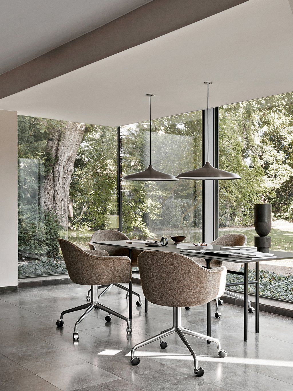 Designer Upholstered Dining Room Chairs, Padded Dining Room Chairs With Casters
