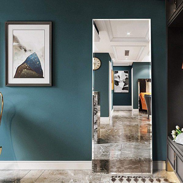 51 Full Length Mirrors To Flatter Your, Herman Modern Contemporary Beveled Bathroom Vanity Mirror
