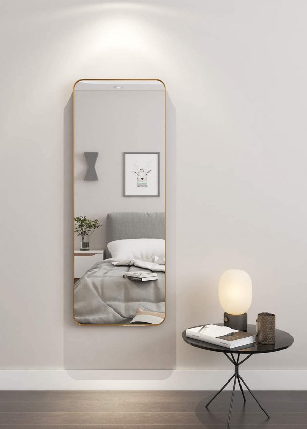 51 Full Length Mirrors To Flatter Your, Full Length Mirror Hanging Ideas