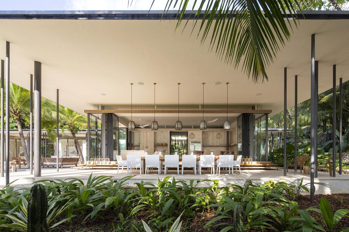 Luxury Beachfront Property In A Jungle Landscape