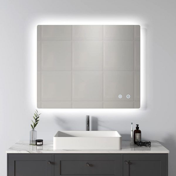 51 Bathroom Mirrors To Complete Your, Frameless Vanity Mirror 72 Inches