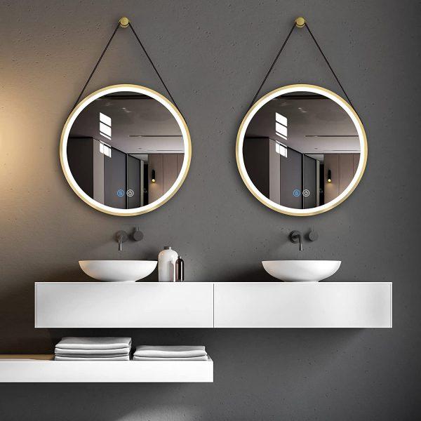 Stylish Vanity Setup, Herman Modern Contemporary Beveled Bathroom Vanity Mirror