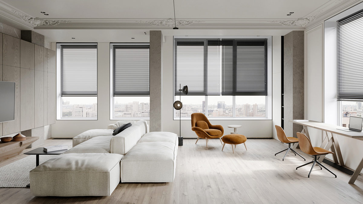 Subtle Grey Interior With Classic Details