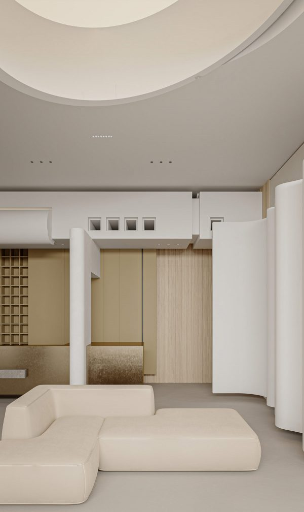 Creative Cream Interior With Fabulous Furniture