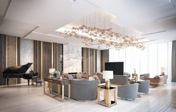 Two Exquisite Art Deco Inspired Interiors